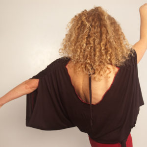 Draping Backless Shirt